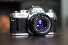 This beautiful Canon AV 1 SLR camera was in the window of one of my local charity shops. Although it was more expensive than I would normall #camera #slr #canon #cameraporn