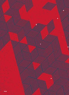 June/July 2012 #lines #pattern #red #geometric