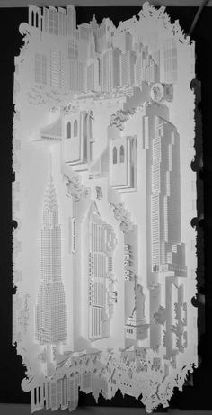 Paper Architecture by Ingrid Siliakus 7 #siliakus #cut #sculpture #white #design #black #ingrid #architecture #art #paper