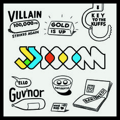 jj doom - key to the kuffs cover art #cover #illustration #dingbat #art #typography