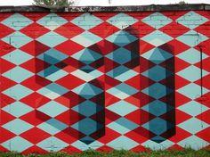 Russia Saint Petersburg Graffiti   The Illusion   Streetfiles.org #polygonal #streetart