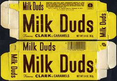 Vintage Candy Packaging #milk #type #vintage #duds