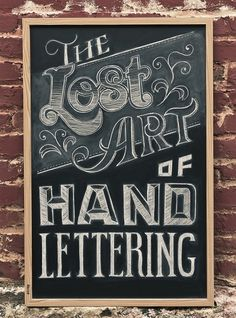The Lost Art of Hand Lettering on the Behance Network