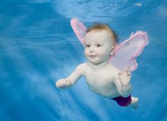 Babies Swimming Underwater by Phil Shaw
