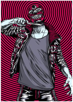 The Gorburger Show SXSW Poster JAMES JIRAT PATRADOON #jiratpatradoon #illustration