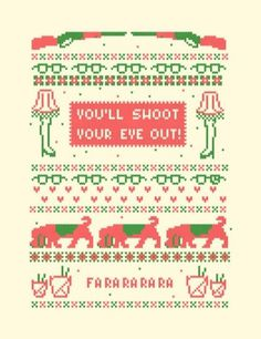 FFFFOUND! | A Christmas Sweater Art Print by Sarajea | Society6 #christmas #type