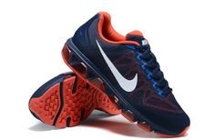 New Nike Air Max Shoes Tailwind 7 Dark Blue Orange Special