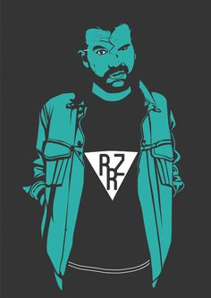 Razor Ramon #illustrator #hipster #wrestling #illustration #wrestler #razor