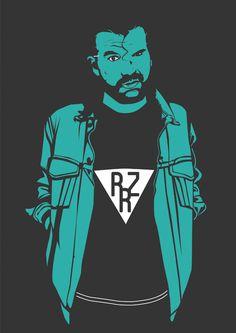 Razor Ramon #illustrator #hipster #wrestling #illustration #wrestler #razor