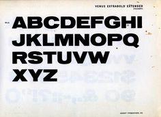 Venus Extrabold Extended type specimen #type #specimen #typography
