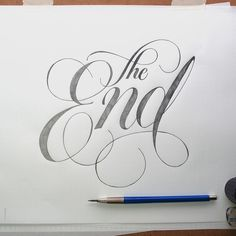 The End | Jason Vandenberg #type #pen #typography