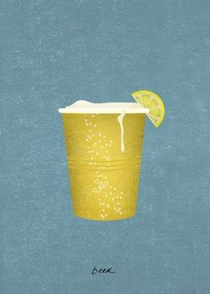 Gimme Bar | Library #beer #illustration #cup #texture