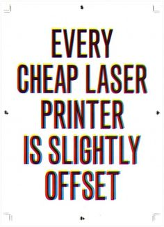 Statement #01: laser printer : Antonio Bertossi