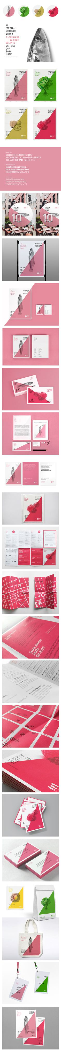 identity of the 11. Festival Dobrego Smaku in Lodz on Branding Served #branding #food