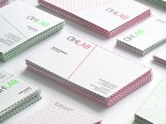 OHLAB business cards #perforated #cards #business