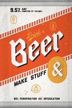 To Resolve Project | grayhood graphic design & illustration #beer #design
