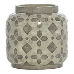 Scanlon Terracotta Grey Urn Vase, 20 cm