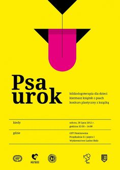 Psa urok | Flickr - Photo Sharing! #polish #dog #print #poster #layout #typography