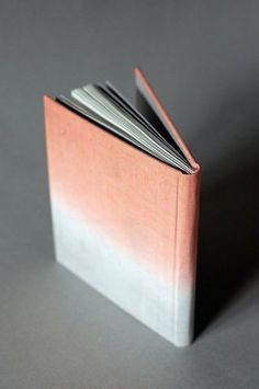 objects / peach ombre book #pages #design #graphic #book #peach #linen #lined #ombre