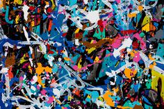 """JonOne """"Predictably irrational"""" Exhibition @ Wunderkammern Milan A reflection on the conflict between chaos and control."""