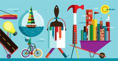 Keys to the City #paint #boat #bike #hammer #invisible #creature