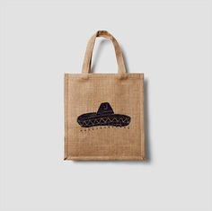 Illustration for tote bag #tote #bag #illustration #streetwear #sombrero #print #vintage #packaging #mexico #brand #identity #fashion