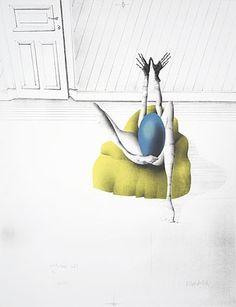 L'oeuf Bleu 1969 Paul Wunderlich #wunderlich #litograph #paul