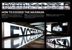BMW M3 Coupe: The Light Wall Reflection | Ads of the World™ #advertisement #design #graphic #typography
