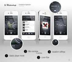 WaterDrop Player App Sold by *Andasolo on deviantART #inspiration