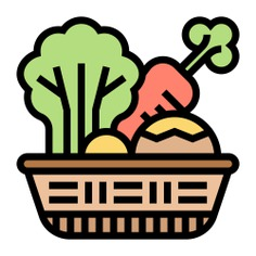 See more icon inspiration related to food, salad, vegan, vegetarian, vegetable garden, food and restaurant, farming and gardening, ecology and environment, organic, healthy food and vegetables on Flaticon.