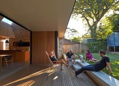 Skylight House Extension by Andrew Burges sloping roof project light