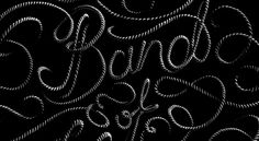 Sean Freeman // Band of Horses #rope #typography