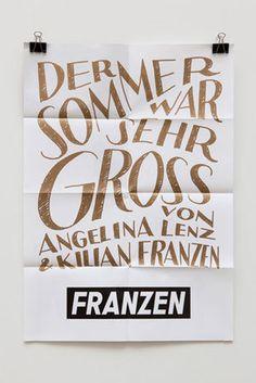 Fuenfwerken #fuenfwerken #wine #poster #franzen #typography
