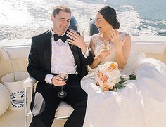 eloping boat married couple