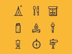 Adventure icons, set 2 #icons #icon #vector #adventure #nature #black