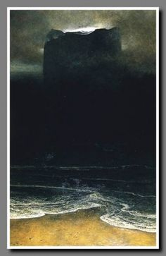 Galeria Malarstwa - Beksiński #illustration #sea #dark