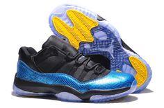 Nike Shoes Air Jordan Xi 11 Mens Snake Skin Blue Black Yellow