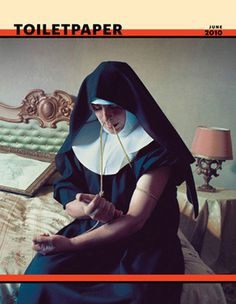 TOILET PAPER MAGAZINE #heroin #nun