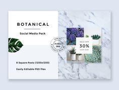 UI8 — Products — Botanical Social Media Pack