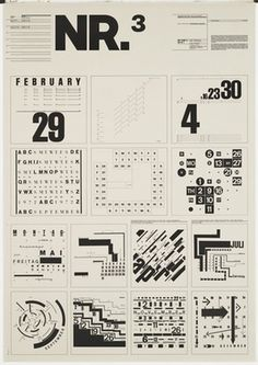 MoMA | The Collection | Wolfgang Weingart. Typographic Process, Nr 3. Calender Text Structures. 1971-1972 #wolfgang #weingart #typography