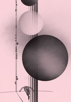 Music from Beneath, by Sopp - Creative Journal #pink #sopp #illustration