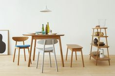 Cobrina - Beautiful Warm Wood Furniture Collection by Torafu Architects