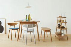 Cobrina - Beautiful Warm Wood Furniture Collection by Torafu Architects