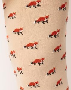 fox tights #tights #pattern #fox