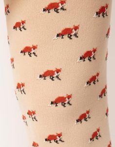 fox tights #pattern #fox #tights