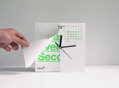 Calenclock - Calendar / Clock Combination by Ken Lo » Yanko Design #clock #calendar