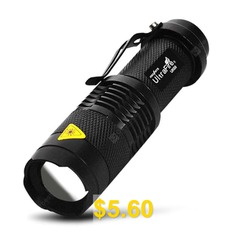 Ultrafire #Zooming #14500 #LED #Flashlight #- #BLACK