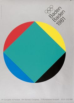 Anton Stankowski — 11th Olympic Congress (1981) #grid #1980s #poster #olympics #grey