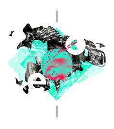 'Ego' by alcalay. #design #black #ego #digital #art #green