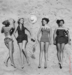 40's, 50's, 60's #retro #swimwear #summer #fashion #beach